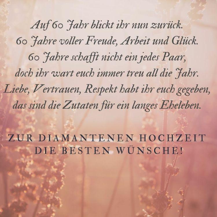 Spruche Zur Diamantenen Hochzeit Gedichte Zitate Spruche Zur Diamantenen Hochzeit Spruche Diamantene Hochzeit Diamantene Hochzeit