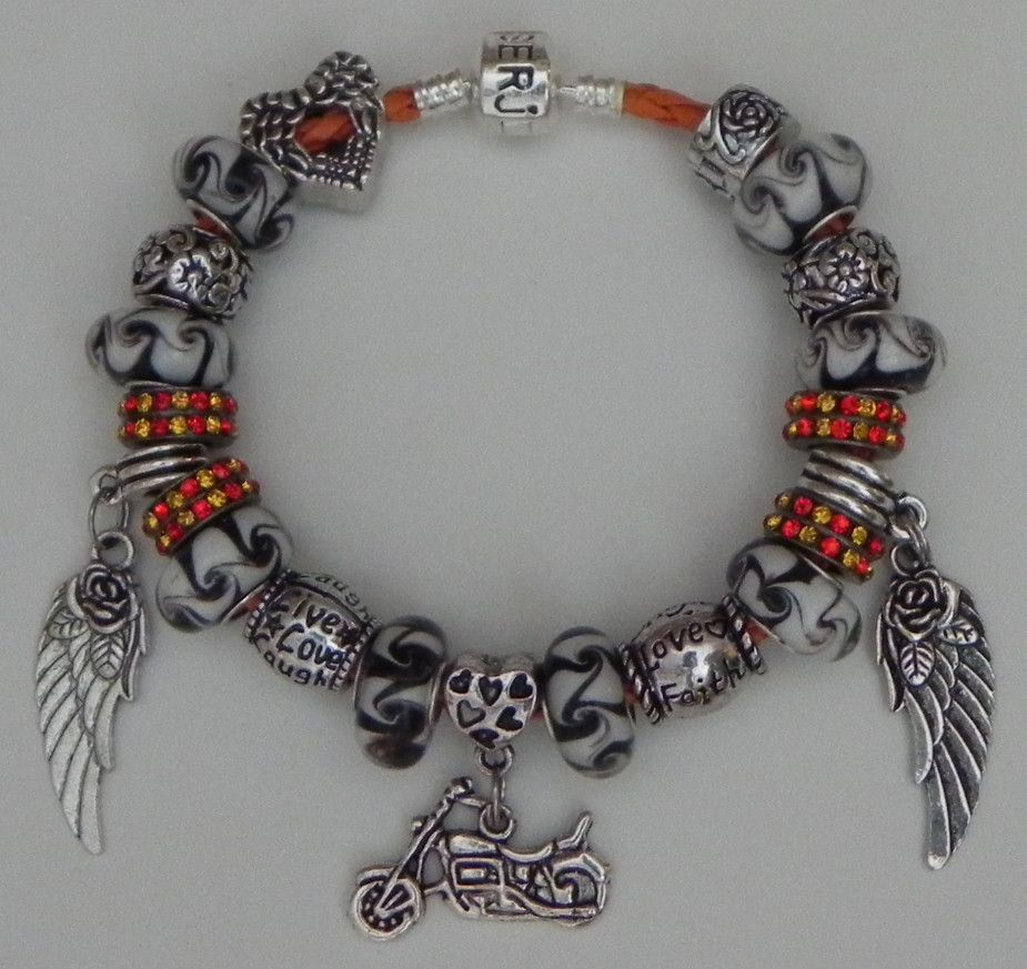 Guardian angel charm bracelet biker chick pinterest guardian