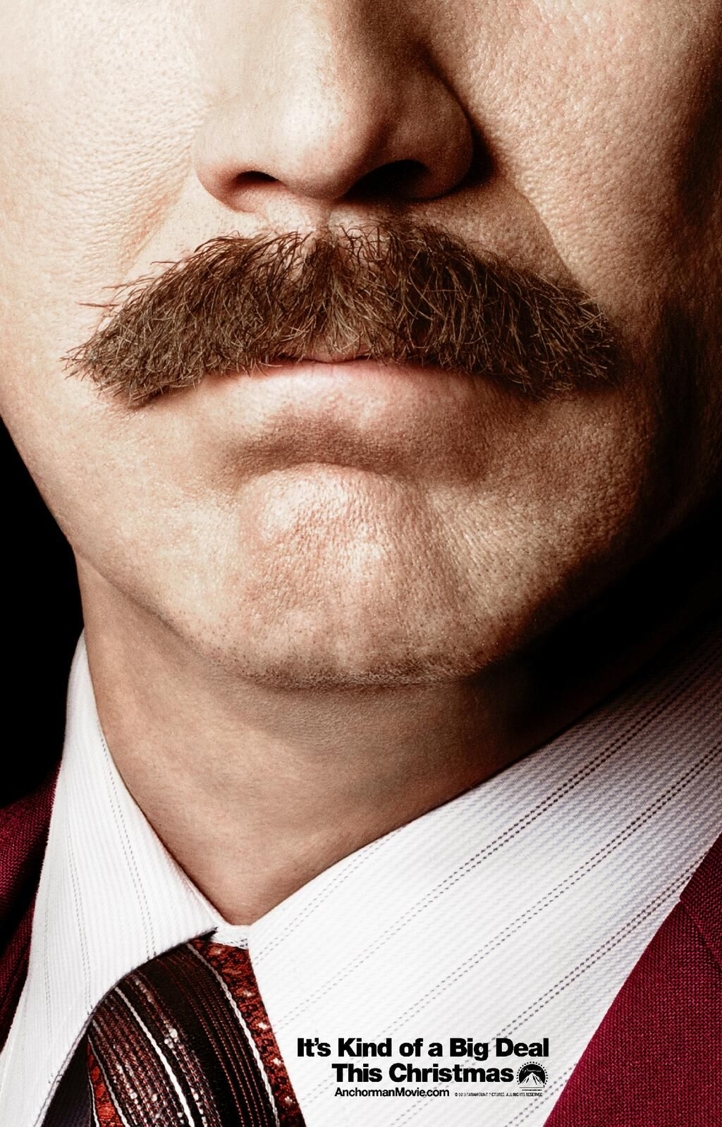 By Ron Burgundy S Mustache It S A New Anchorman Poster