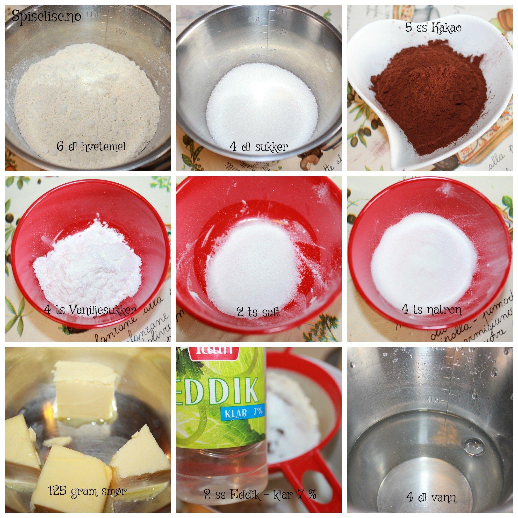 Nydelig, saftig enkel å lage sjokoladekake – Spiselise