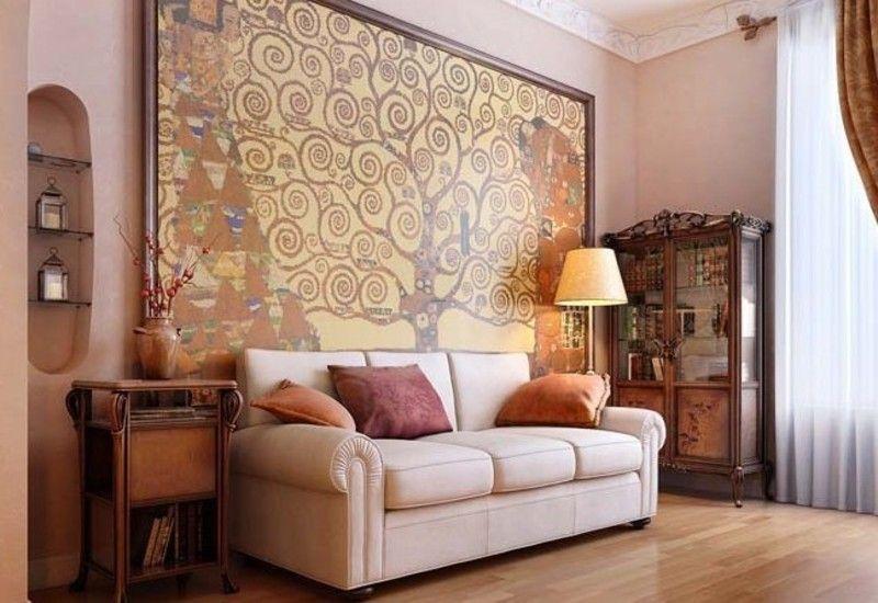 Luxury interior design ideas for living room with big oil - Oil painting ideas for living room ...