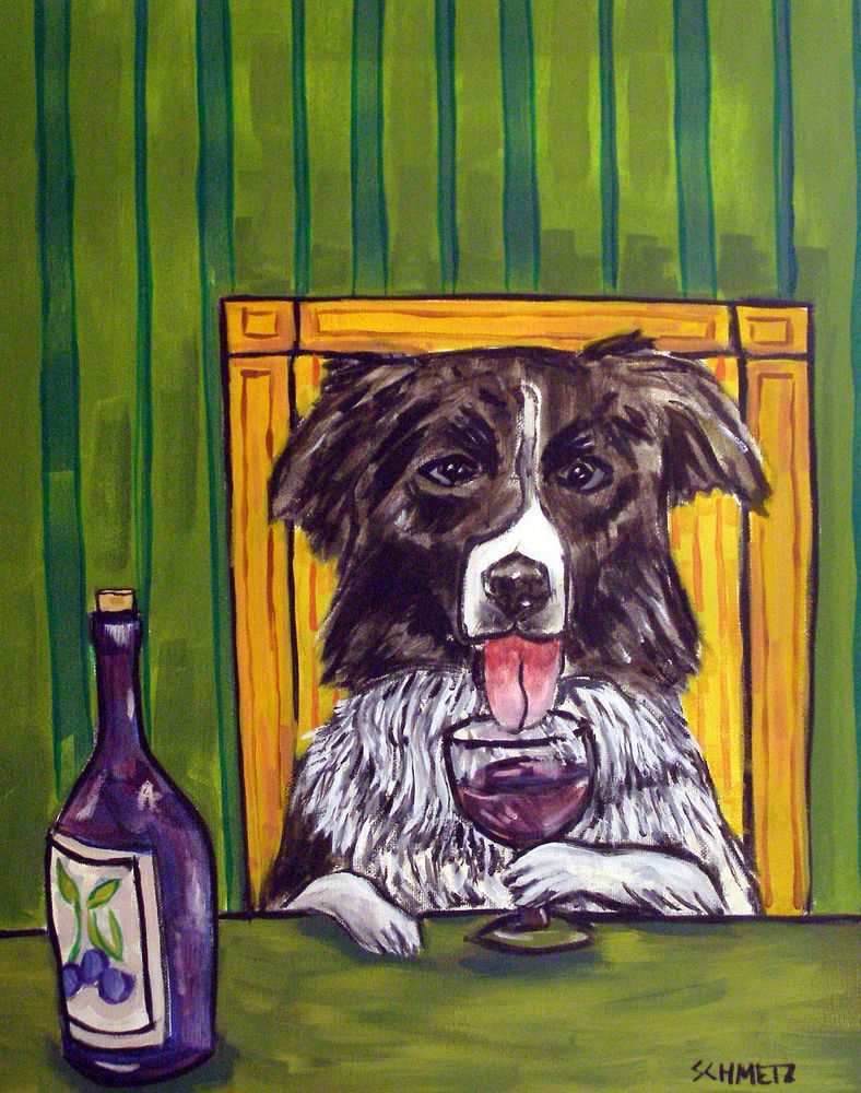 BORDER TERRIER PIANO dog prints 8x10  art PRINT artist animals