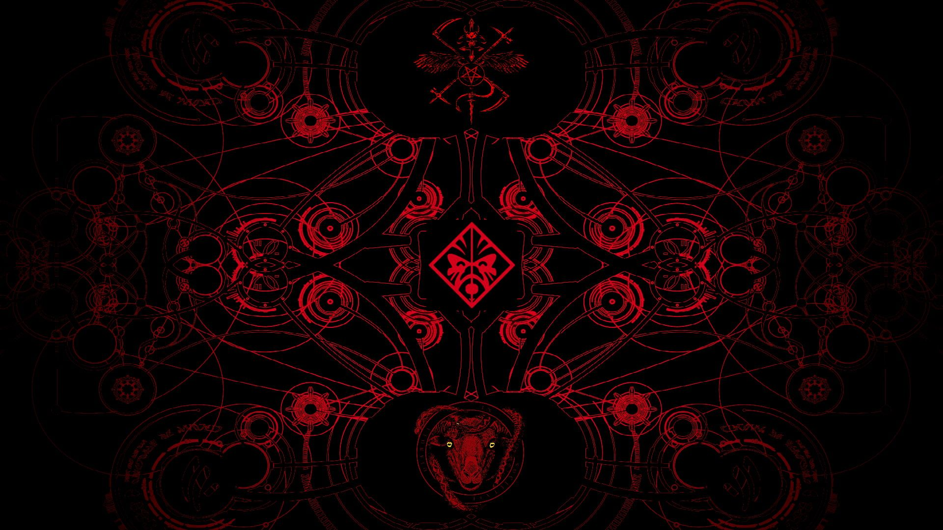 Satan Red and Black abstract HP Omen 1080P wallpaper