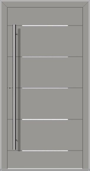 LIM Integra-inox – modern aluminum front door