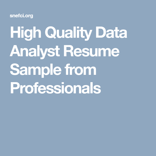 Brand Analyst Sample Resume Classy High Quality Data Analyst Resume Sample From Professionals  Career .