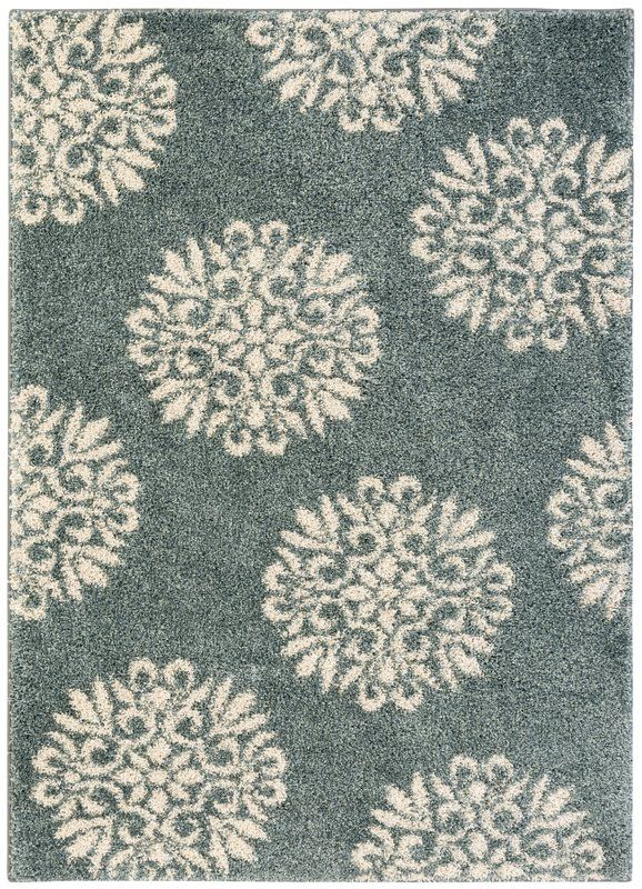 Cowden Exploded Medallions Woven Bay Blue Area Rug Area Rugs Modern Area Rugs Rugs