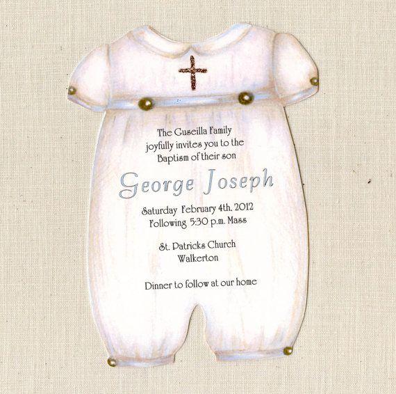 30 boy baptism invitations christening personalized printed