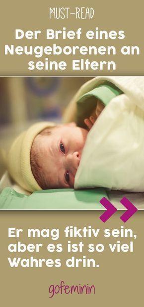 """Photo of """"Seid bitte nicht enttäuscht"""": Diesen Brief eines Neugeborenen an seine Eltern müsst ihr lesen!"""
