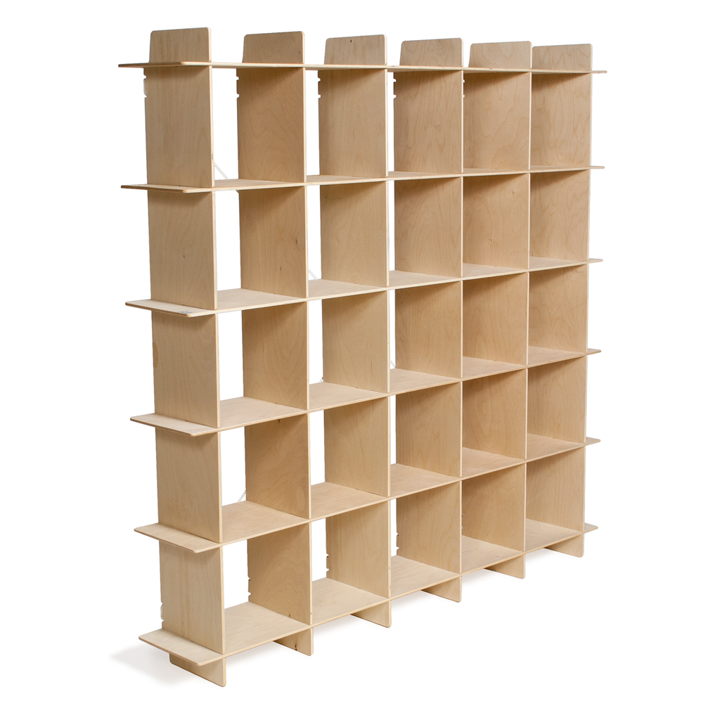 Good Buy 25 Cubby Mid Century Bookcase In Unfinished Baltic Birch Sprout 199 Mid Century Bookcase Bookcase Storage Cube Storage