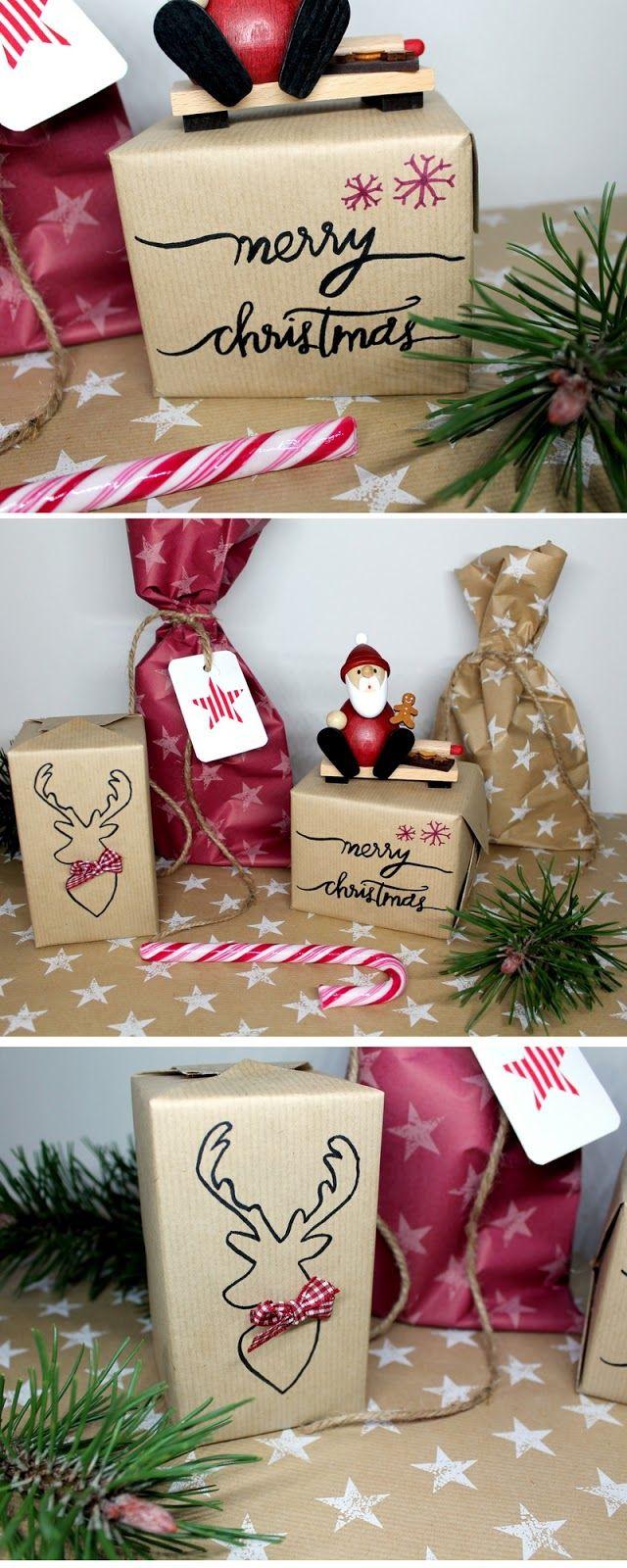 Weihnachtsgeschenke Pinterest.Diy Tolle Verpackungsidee Geschenke Schön Individuell Und