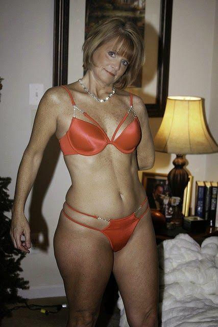 Mature redhead lingerie