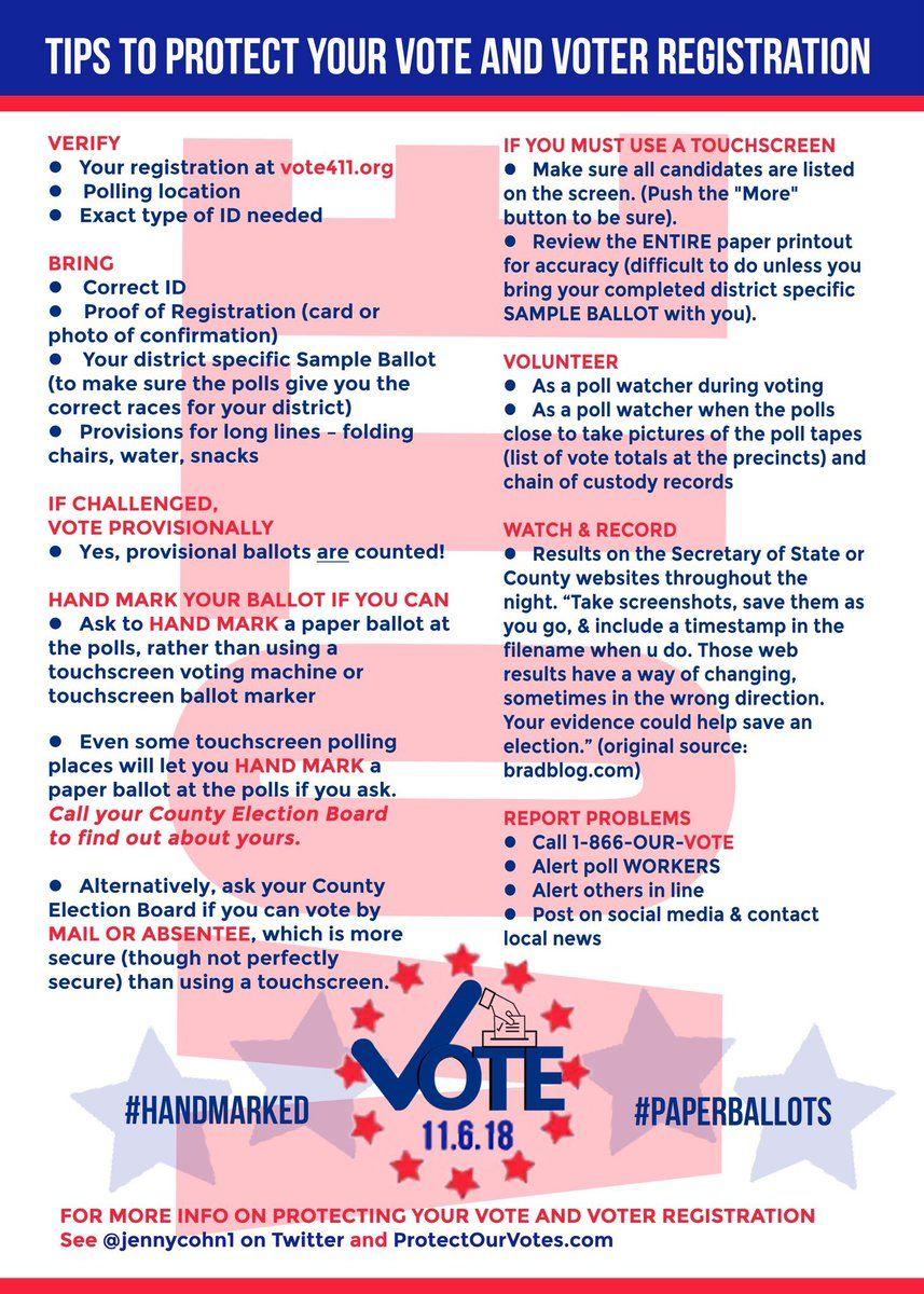 Twitter Voter registration, Vote, Polling place
