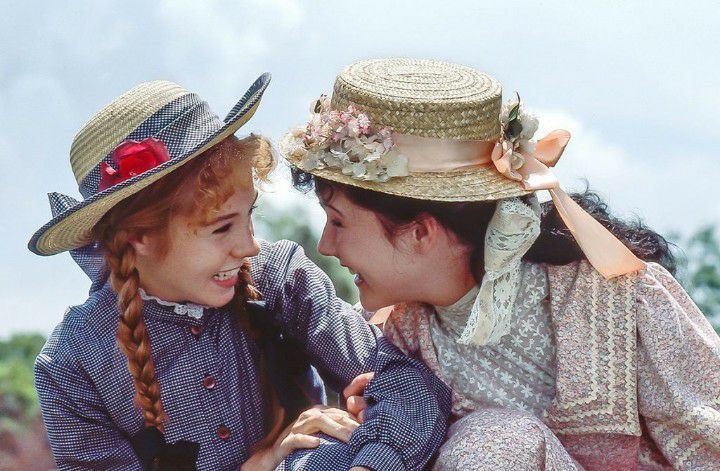 Anne Of Green Gables Anne And Diana Bosom Friends Green