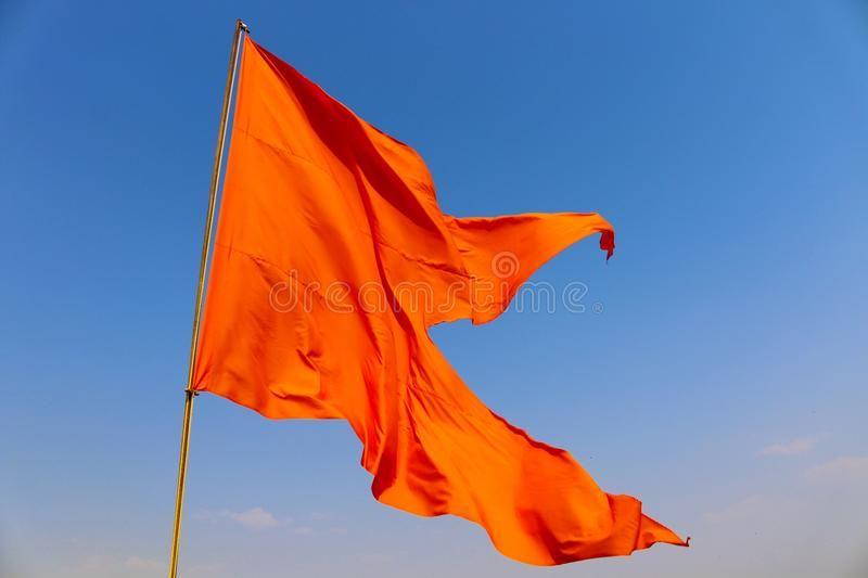 Photo About Flag Of Maratha Empire Founded By Chhatrapati Shivaji Maharaj In Maharashtra India Image Of F Indian Flag Wallpaper Indian Flag Images India Flag