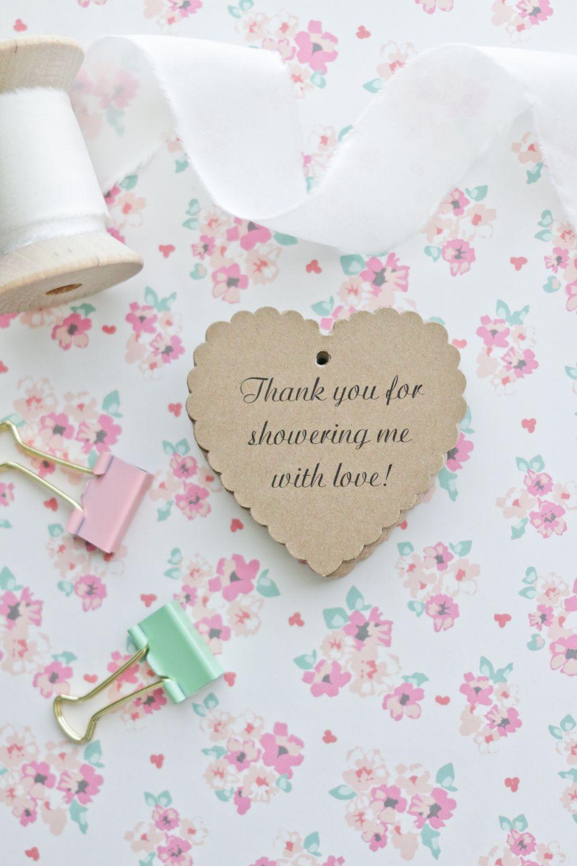 Bridal Shower Favor Tags - Wedding Favor Tags - Handmade Tags www ...
