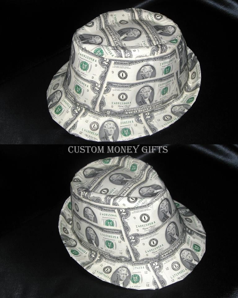 Money: Fedora Hat Made With Money Will Make Any Bride Or Groom