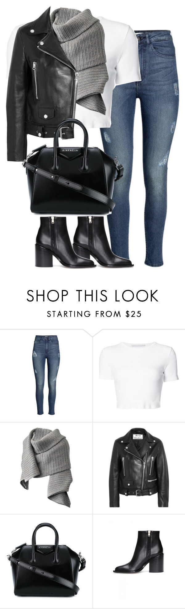 """""""Untitled #4366"""" by maddie1128 ❤ liked on Polyvore featuring H&M, Rosetta Getty, Acne Studios, Givenchy and Marni"""