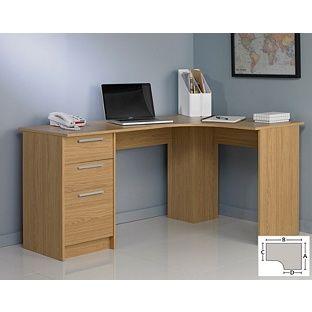 Buy Large Corner Desk Oak Effect At Argos Co Uk Your Online Shop For Desks And Workstations Corner Desk Desk Large Corner Desk