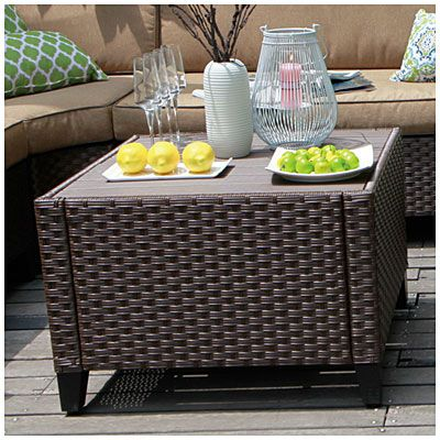 Wilson Fisher Riviera Resin Wicker Coffee Table At Big Lots