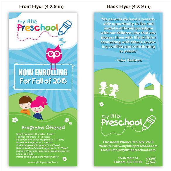 Cute Daycare Flyer Template Preschool flyer Pinterest