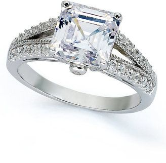 Giani Bernini Sterling Silver Ring, Cubic Zirconia Princess-Cut Engagement Ring (4 ct. t.w.) Size 5-9 - $39.99