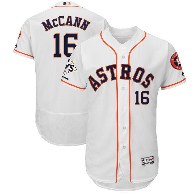 0f3960dc0 Brian McCann Houston Astros Majestic 2017 World Series Champions Flex Base  Player Jersey - White