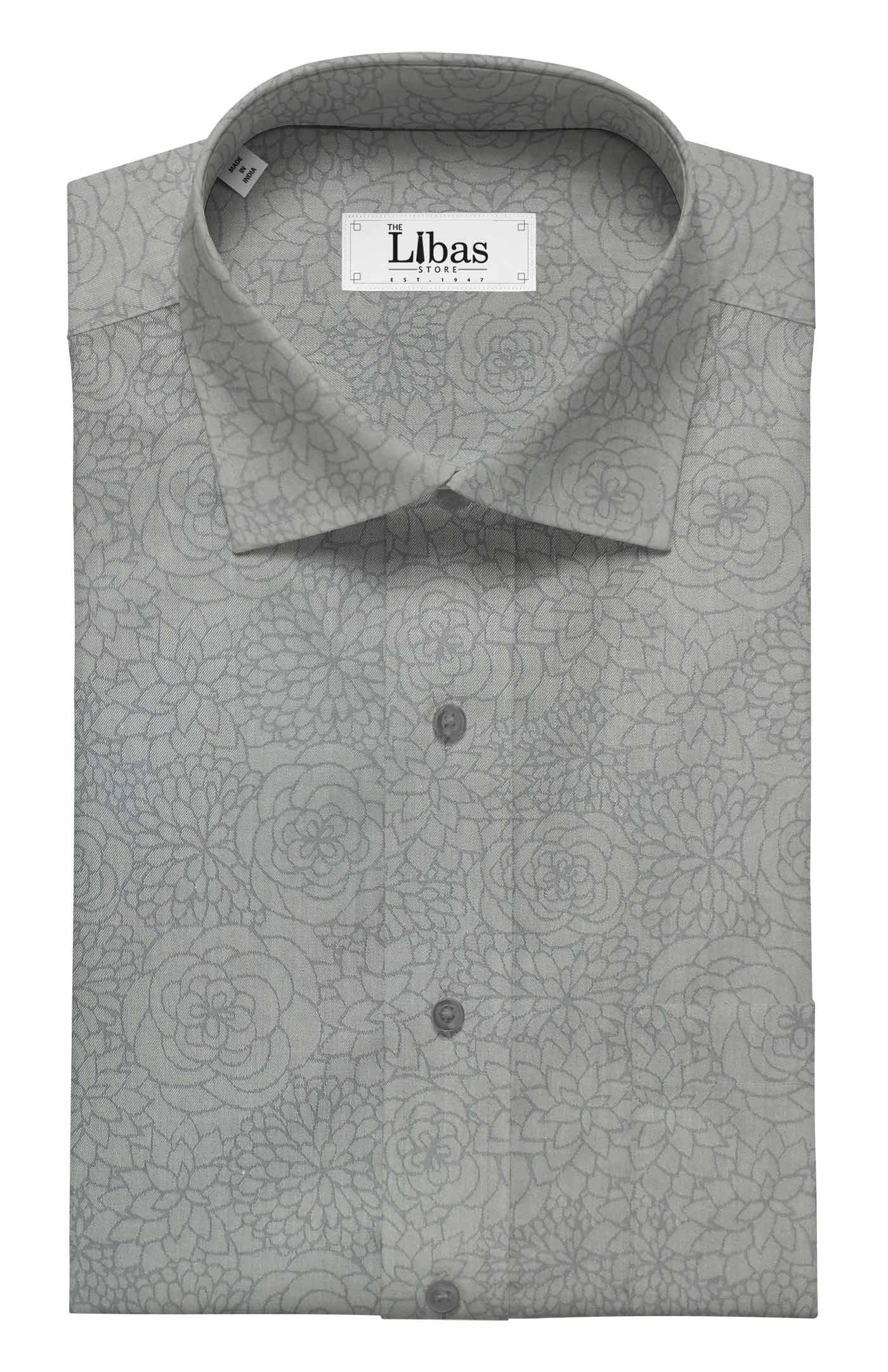 1e39010d9d7 Combo of Raymond Blackish Grey Self Design Trouser Fabric With Fabio  Rossini Light Grey 100% Cotton Jacquard Shirt Fabric (Unstitched)