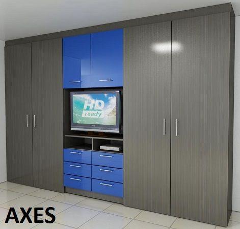 Closets modernos de madera muebles macal cocinas y for Gabinete de almacenamiento para el dormitorio