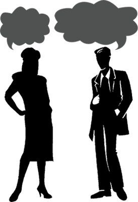 He Wants to Know What – She Wants to Know Who