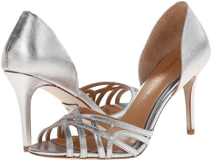 Womens Shoes Badgley Mischka Muse Silver Metallic Leather