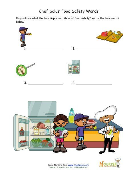 Food Safety Writing Activity For Children Great As A