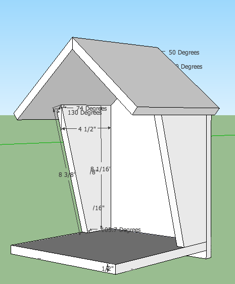 Robin bird house plans thinking this might be good in my for Sparrow birdhouse plans