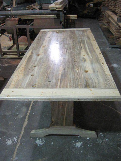 Denim Pine Beetle Kill Pine Wood Table At Peerlessforestproducts Com Pine Table Farm Style Table Wood Table
