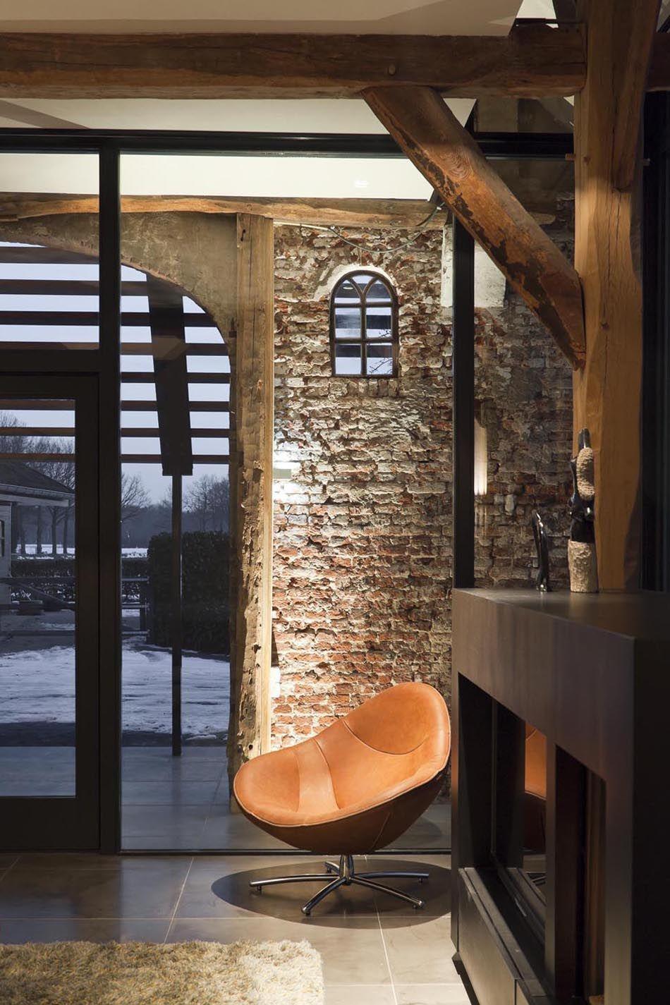 Maas architecten verbouwing boerderij tot woonhuis barchem huis pinterest maas - Interieur decoratie stenen huis ...
