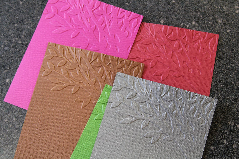 dry embossed cards  embossed cards scrapbook paper