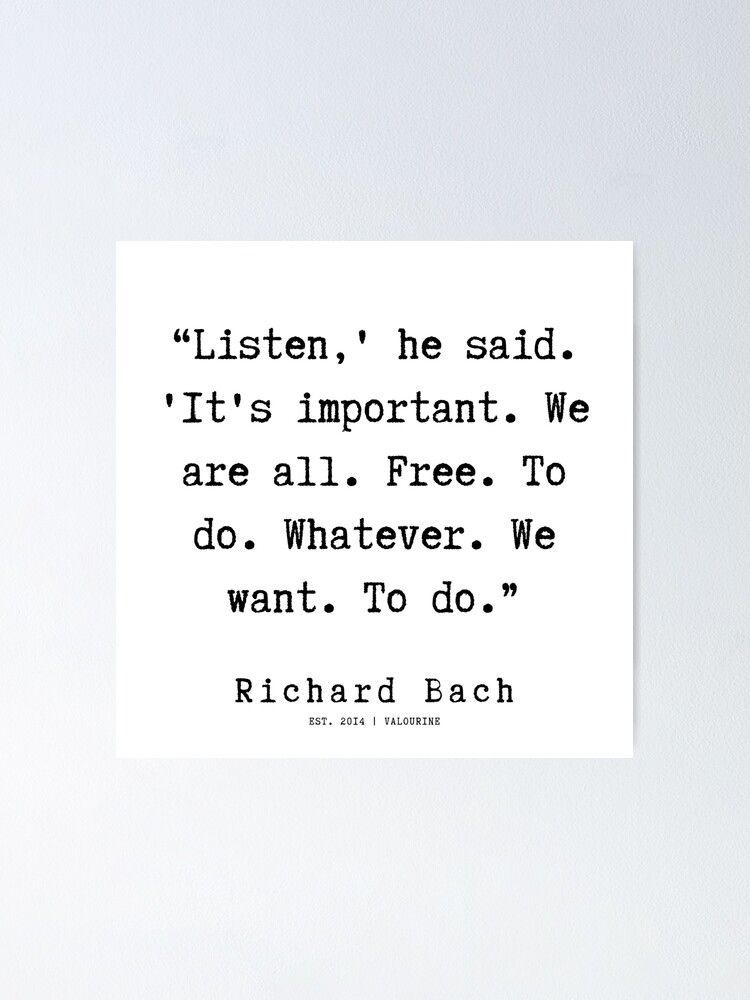 39  | Richard Bach Quotes | 190916 Poster by QuotesGalore