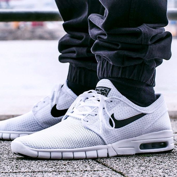 NIKE SB Stefan Janoski Max White & Black | Nike fashion