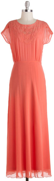 ModCloth Dreaming in Coral Dress - Lyst