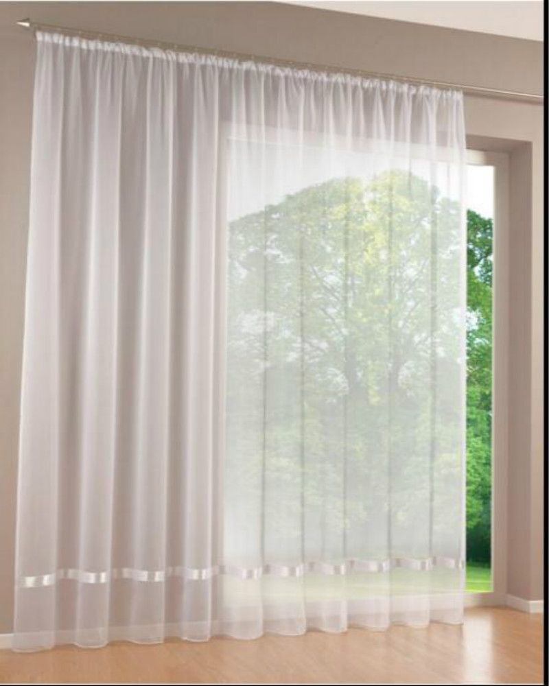 Quality White Voile Encryption Ribbon All Match Screens Curtains