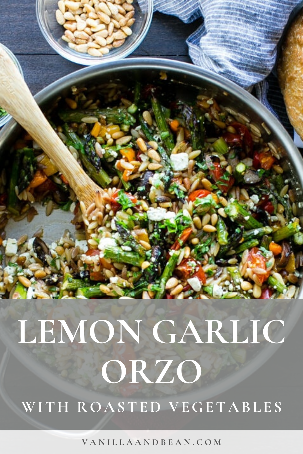 Photo of Lemon Garlic Orzo with Roasted Vegetables