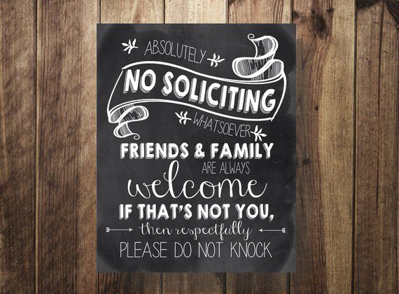 photograph about Printable Baby Sleeping Sign Front Door titled No Soliciting Indication, Do Not Ring the Doorbell, Sleeping Kid