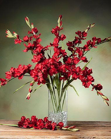 Red silk gladiolus stems single artificial flower stem designs red silk gladiolus stems single artificial flower stem designs from silkflowers mightylinksfo Choice Image