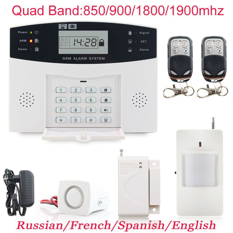 Wireless LCD GSM SMS Burglar Fire Alarm System Auto Dialer Home Security Safe MY