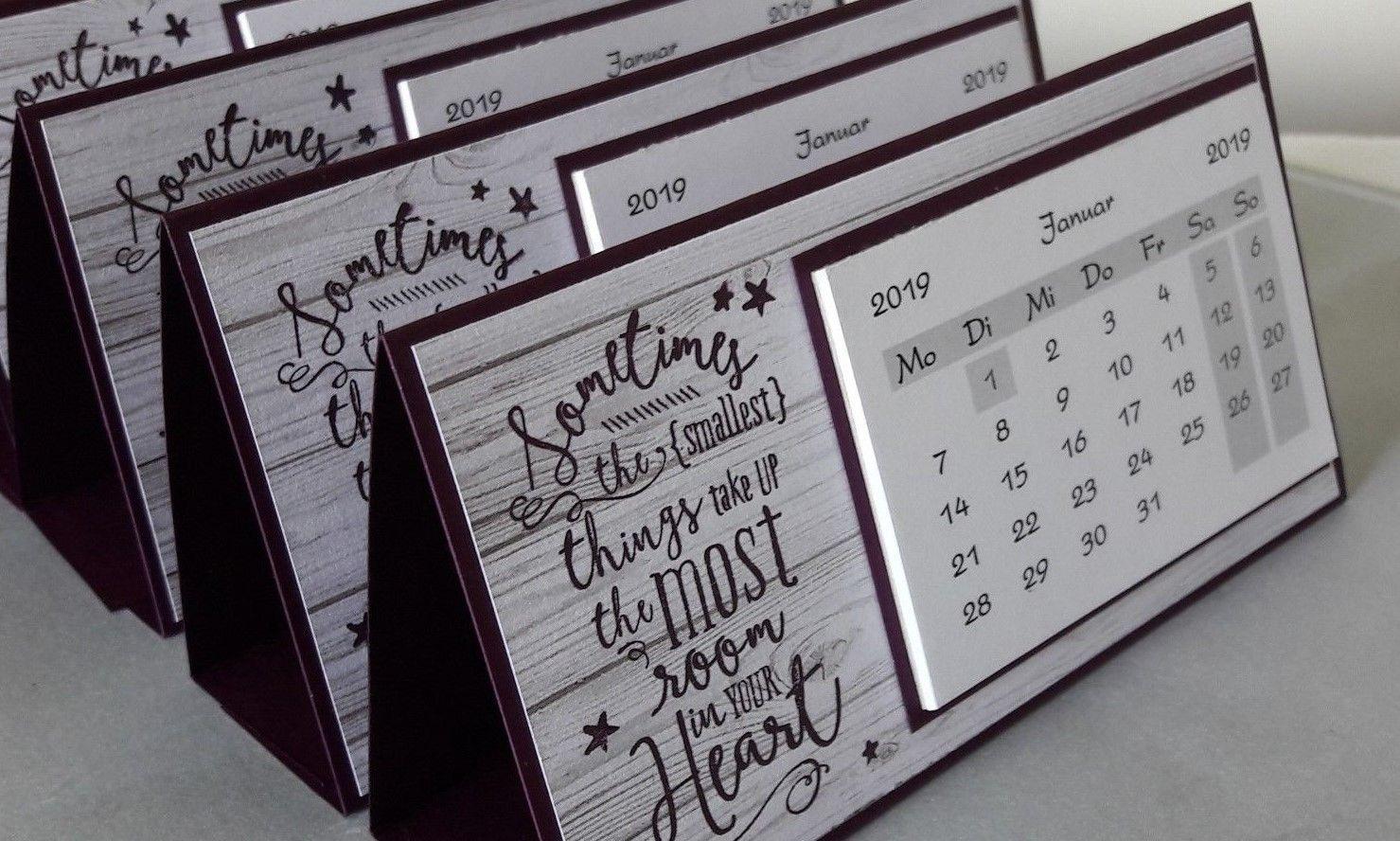 2019 tischkalender kalender mitbringsel gastgeschenk. Black Bedroom Furniture Sets. Home Design Ideas