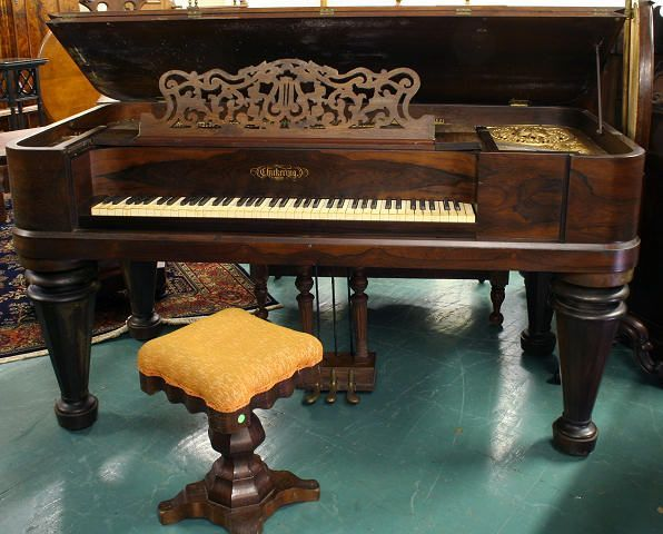 Mid 1800 Square Grand Piano Rosewood Chickering