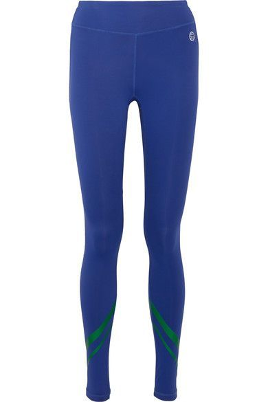 1bc1d39d53090 Tory Sport - Printed Stretch-tactel® Leggings - Blue | Products ...