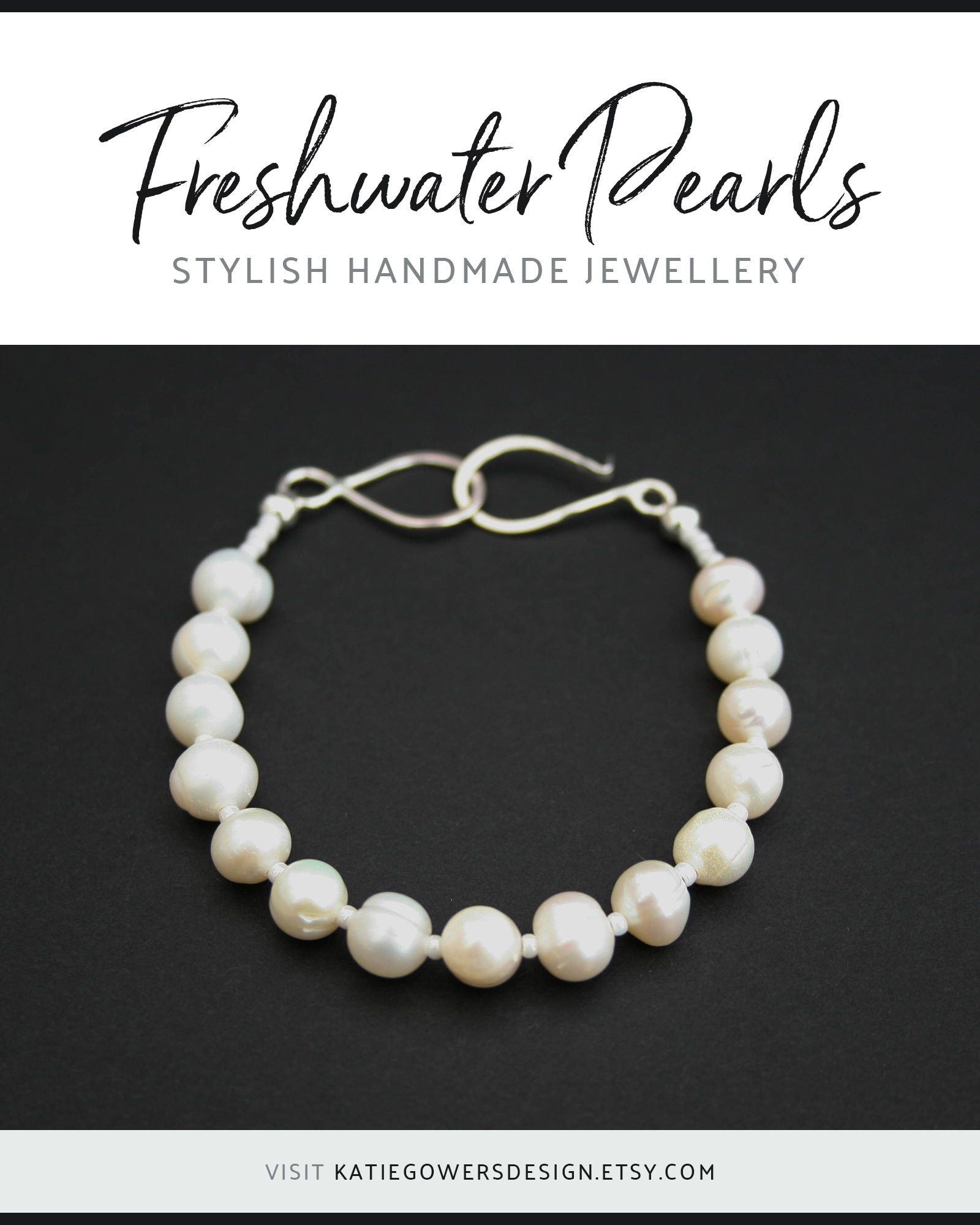 Freshwater Pearl Bracelet With Handmade Sterling Silver Clasp An Elegant