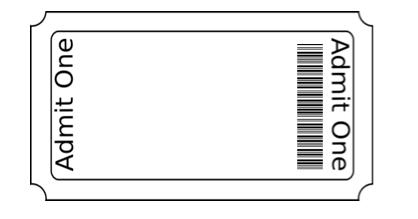 Ticket Stub Template Ticket Stubs Ticket Template Admit One Ticket