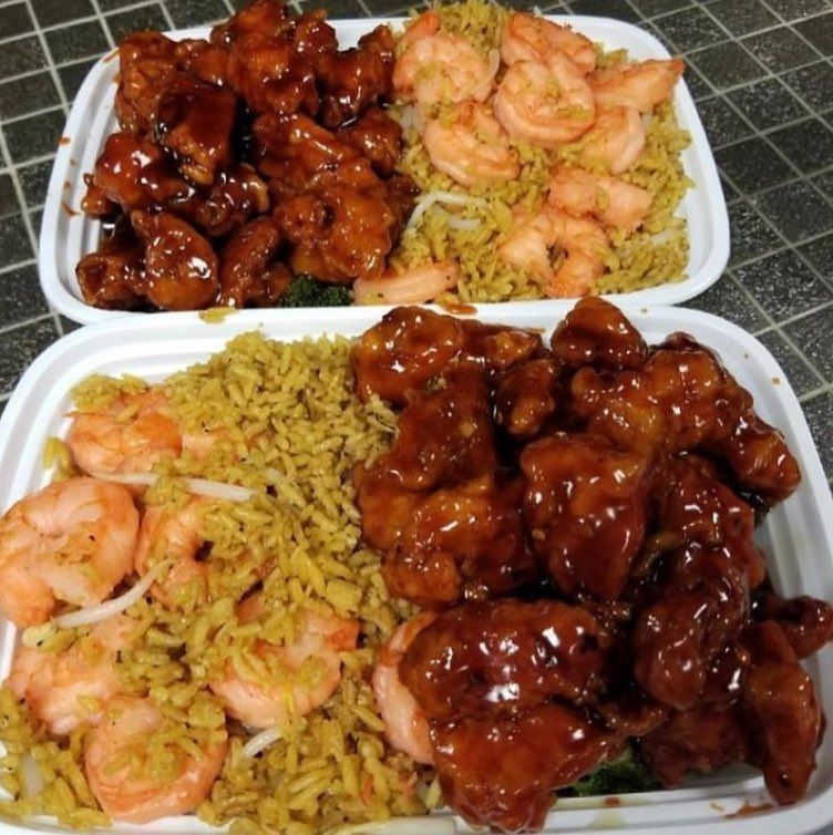 Our Customers Favorite Platter General Tso S Chicken W Double Shrimp Fried Rice Open Till 11 00pm We Deliver Food Soul Food Food Cravings