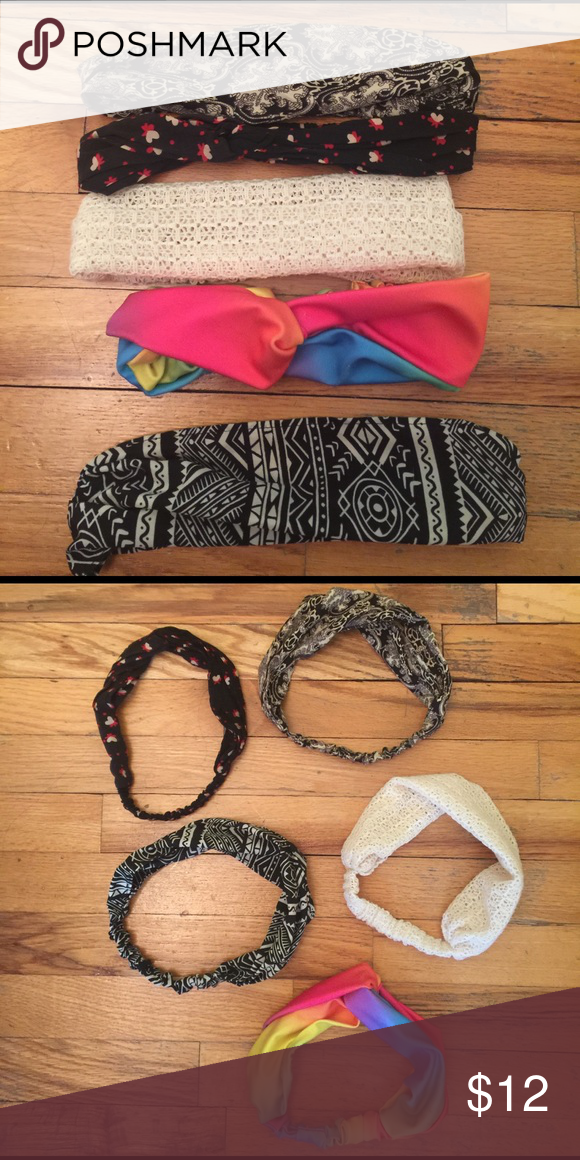 Fashion Headbands 5 Cute headbands stretchable Forever 21 Accessories Hair Accessories